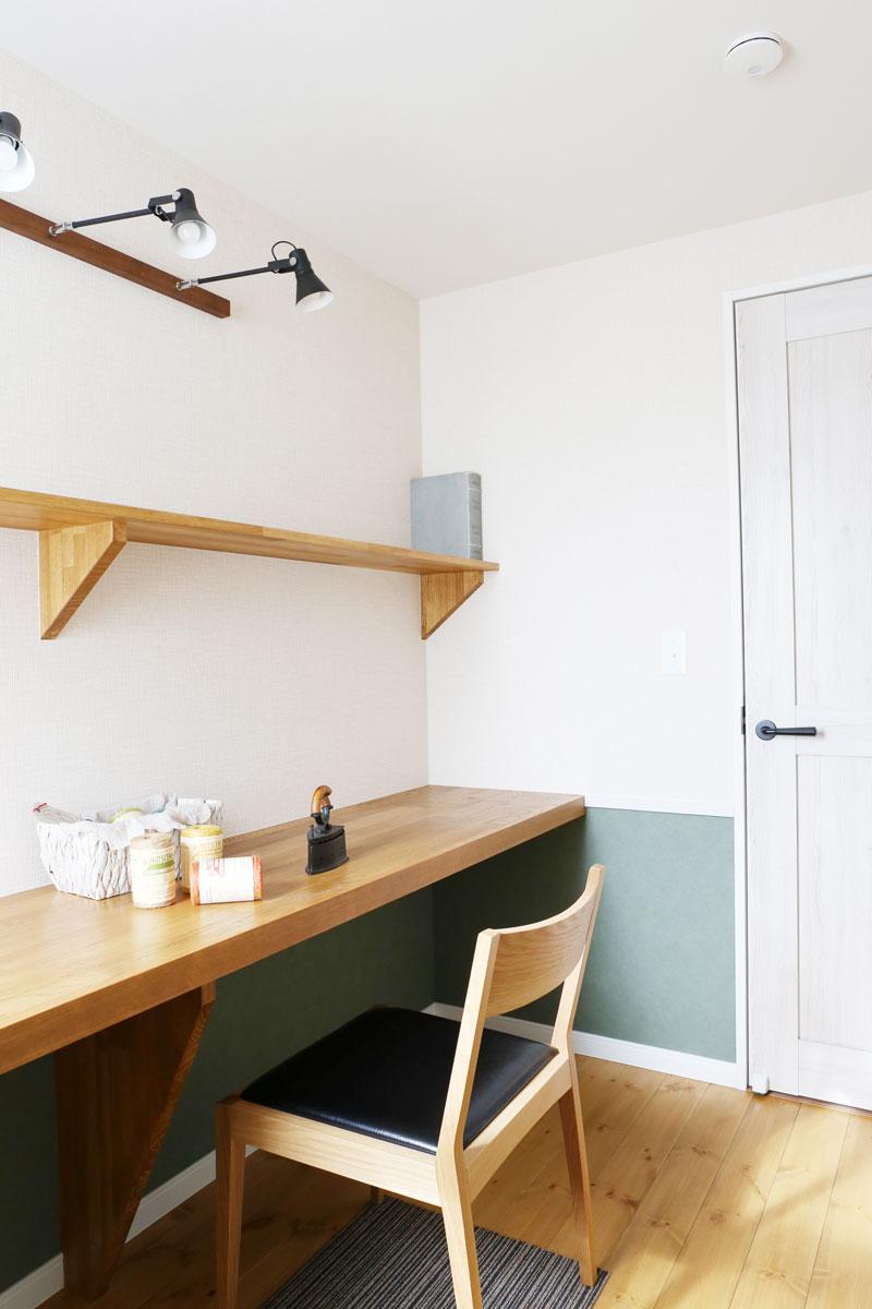 Mamanの家のフリースペース活用方法を事例で紹介♪ワークスペースに。【酒田鶴岡でヨーロッパテイストのおしゃれでかわいいカフェのような新築Mamanの家を手がける工務店 ナチュラル工房伊藤住宅】