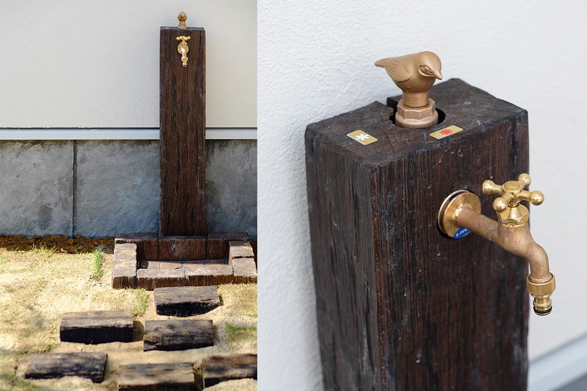 ガーデニングを楽しむおしゃれなデザインの外水栓