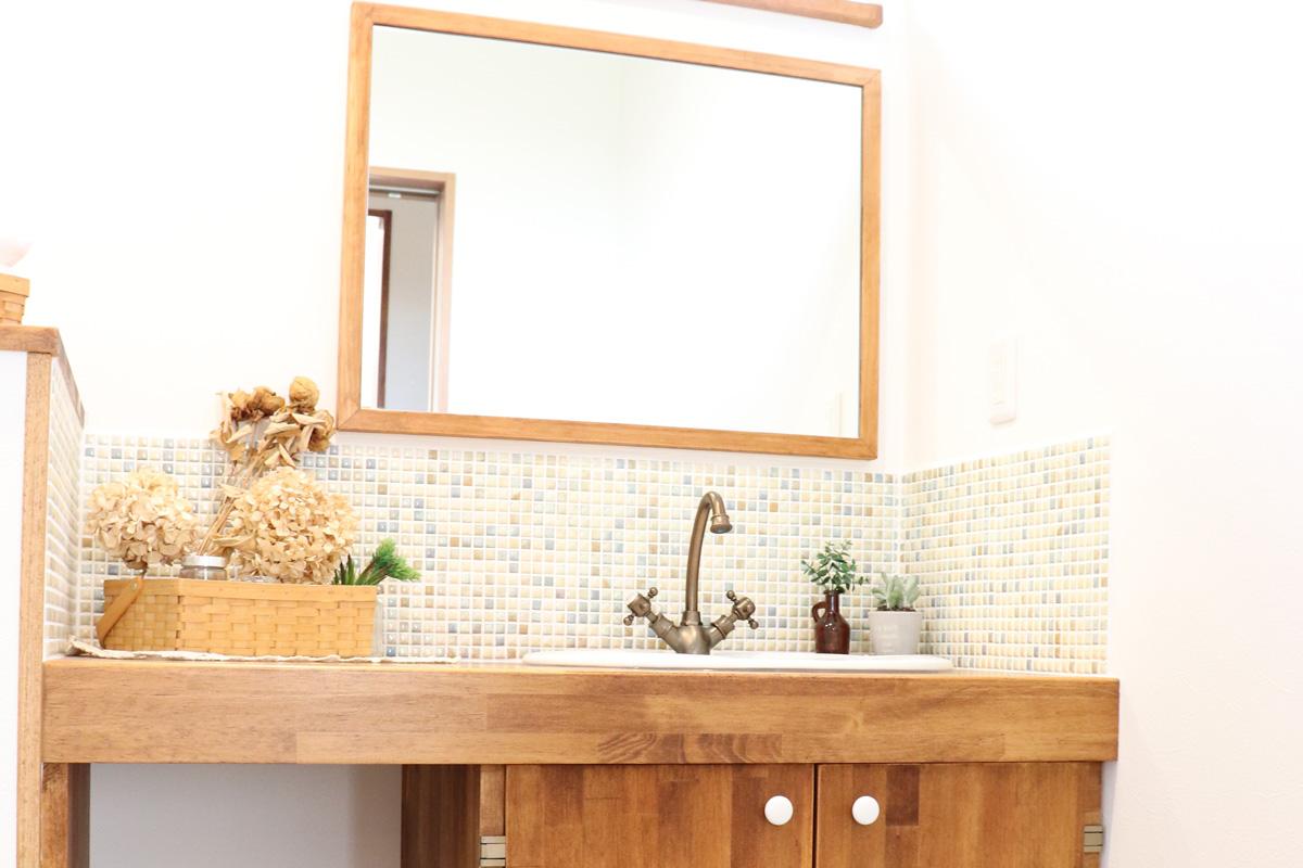 洗面台がかわいいお家の全国のママンの家を紹介