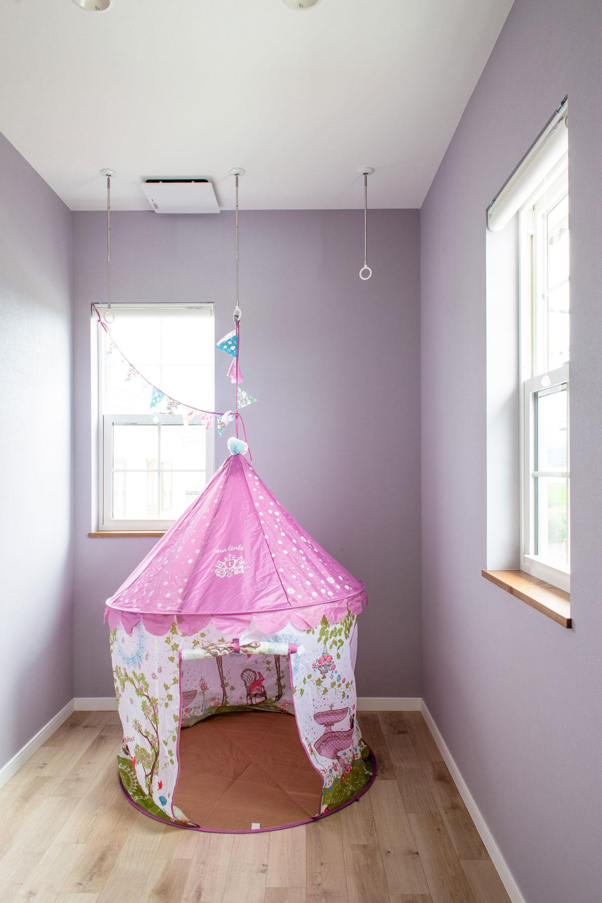 室内洗濯干しにも使えるフリースペース
